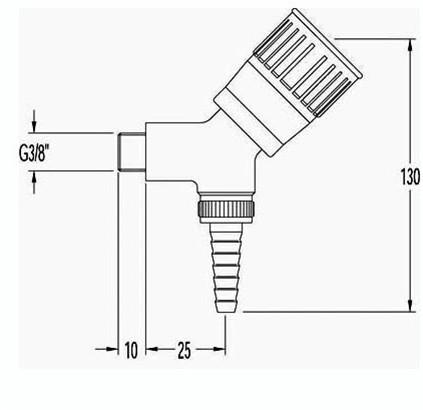FAR tapkraan voor demi-water, wandmontage-2
