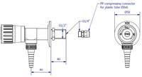 FAR PP wandkraan voor puur water, schroefdraad 40mm-2