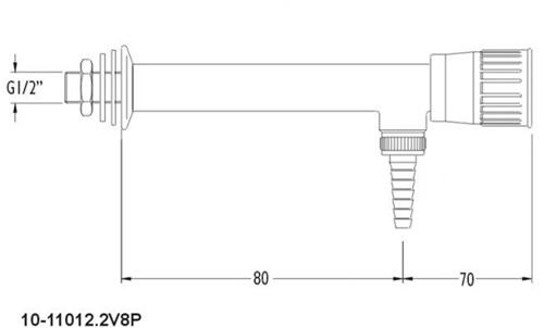 FAR wandkraan water met borgpin-2