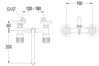FAR 2-gats mengkraan met draaibare uitloop-2