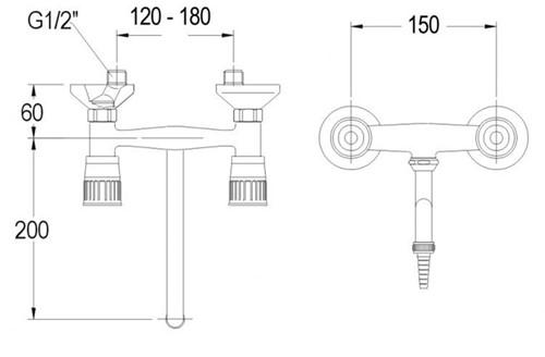 FAR 2-gats mengkraan met draaibare onderuitloop-2