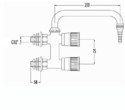 FAR verticale mengkraan met draaibare lage U-uitloop-2
