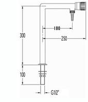 FAR kolomkraan voor demi-water met 1 tappunt-2