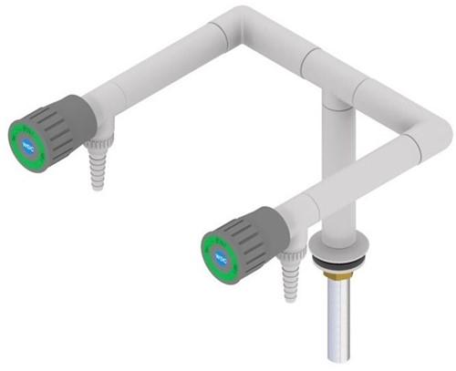 FAR Standsäule demi-Wasser mit 2 Ventile