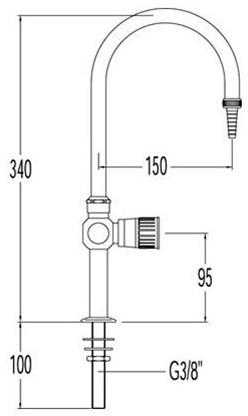 FAR RVS boogkraan met draaibare uitloop-2