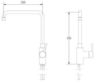 FAR 1-gats mengkraan met draaibare uitloop en hendel-2