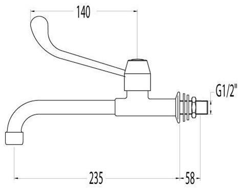 FAR eenhendelkraan wandmontage-2