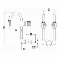 FAR dubbele neerklapbare boogkraan voor wandmontage-2