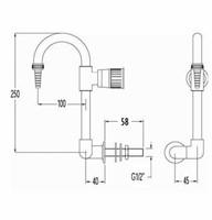 FAR neerklapbare boogkraan voor wandmontage-2