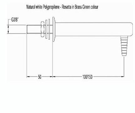 FAR PP uitloop voor demi-water, wandmontage-2