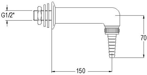FAR uitloop voor water, wandmontage-2