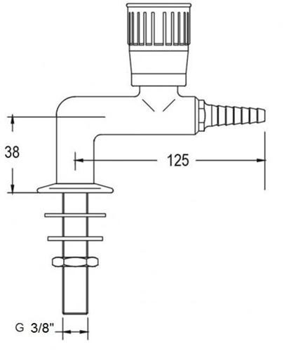 FAR lage kolomkraan met 1 tappunt, brandbaar gas-2