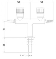 FAR kolomkraan met 2 tappunten 180°, brandbaar gas-2