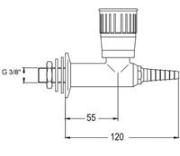 FAR wandkraan met borgpin, brandbaar gas-2