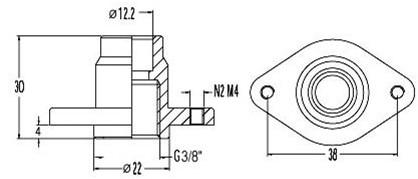 FAR koppelstuk voor front montage system, 1/2-2