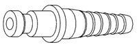 Hose nozzle for nickel plated coupling-2