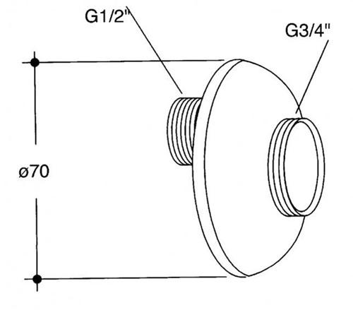 Rozet met S-koppeling, grijs-2