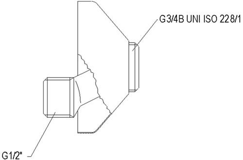 Rozet met S-koppeling, grijs-3