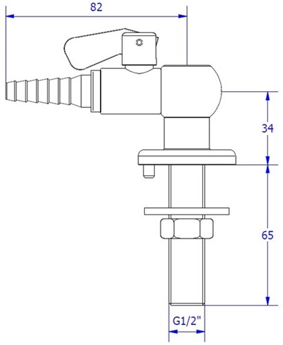 FAR CompactLine kolomkraan met borgpin, brandbaar gas-2