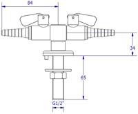 FAR CompactLine met 2 tappunten en borgpin, brandbaar gas-2
