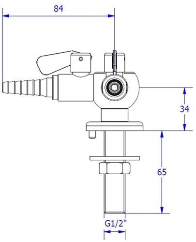 FAR CompactLine kolomkraan met 2 tappunten 90° en borgpin-2