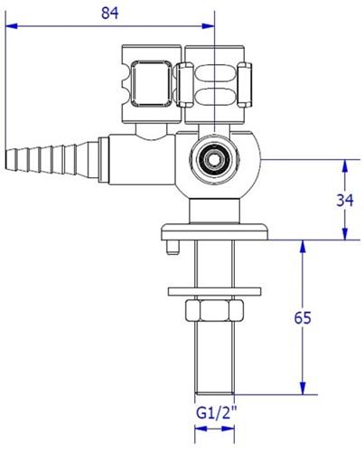 FAR CompactLine gaskraan met 2 tappunten, bladmontage-2