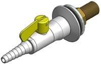 FAR CompactLine rechte wandkraan, brandbaar gas
