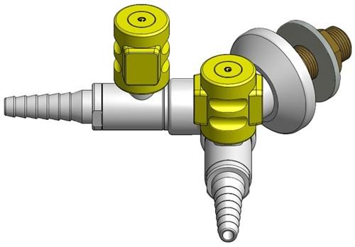 FAR CompactLine 2-way wall mounted gastap
