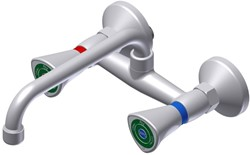 FAR MDS 2-gats mengkraan met draaibare bovenuitloop