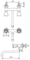 FAR MDS 2-gats mengkraan met draaibare onderuitloop-2