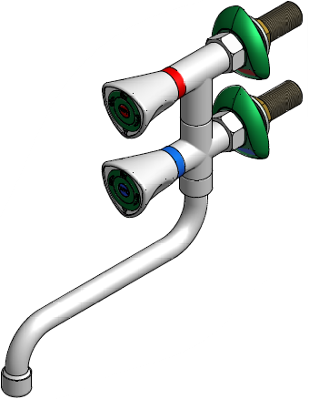 FAR MDS verticale mengkraan met draaibare onderuitloop