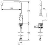 FAR MDS 1-gats mengkraan met draaibare uitloop en hendel-2