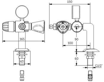 FAR MDS 5.0 gaskraan bladmontage met drukregelaar-2