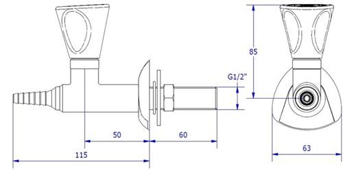 FAR MDS rechte kraan voor technische gassen-2