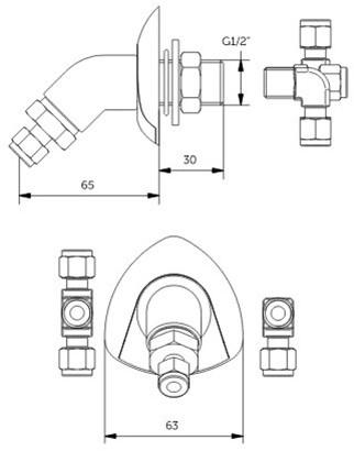 FAR MDS uitloop wandmontage 5.0-2