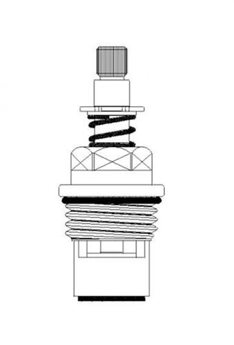 """FAR """"druk-draai"""" keramisch binnenwerk voor gaskranen-2"""