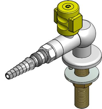 FAR MDS CompactLine gaskraan 90° met snelkoppeling