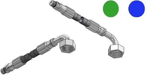 """FAR MDS SPX aansluitslang, lengte 1200mm, M10  x G1/2"""" 90°"""