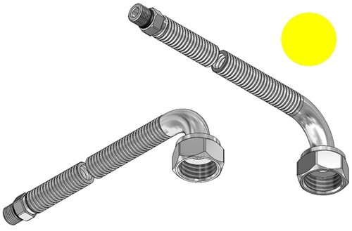 """FAR MDS SSN connection hose, 1200mm, M10 x G1/2"""" 90°"""