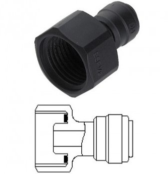 "Adaptor ø 10mm x 1/2"" female"