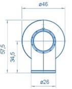 Doseerafsluiter haaks voor wandmontage-3