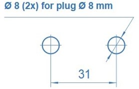 Wandkraan opbouw met doseerafsluiter-2