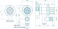 Wandkraan opbouw met doseerafsluiter-3