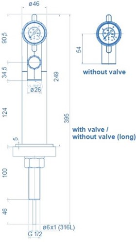 Bench mounted tap wit flow-control-valve-2