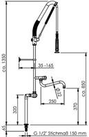 Echtermann Top Clean met thermostaat op standzuil-2