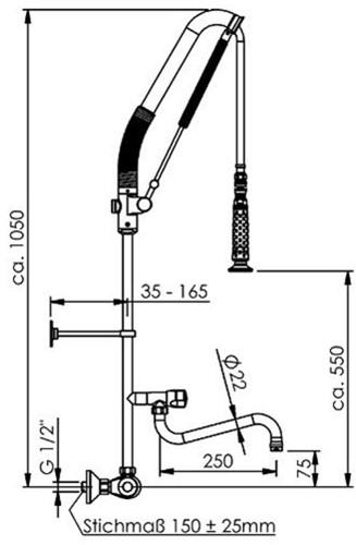 Echtermann Top Clean met thermostaat wandmontage-2