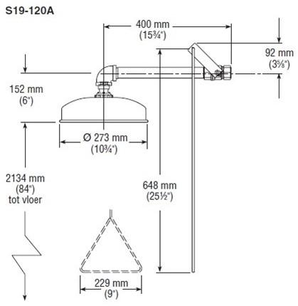 Bradley plensdouche wandmontage-2