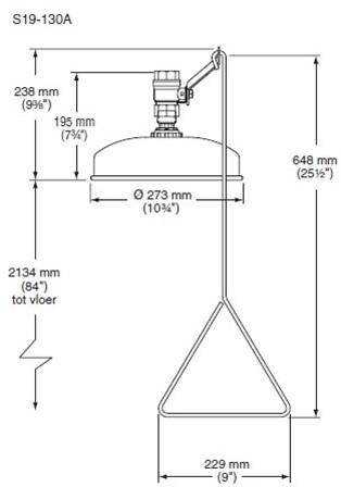 Bradley ceiling mounted bodyshower-2