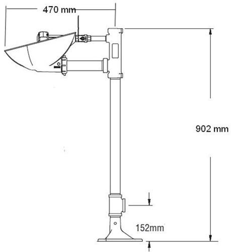 Bradley HALO vrijstaande oog-/gelaatsdouche met knijpdouche-2