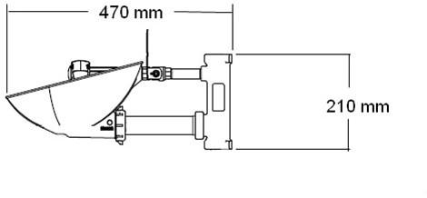 Bradley HALO oogdouche met RVS opvangschaal, wandmontage-2